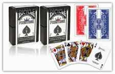 Lot 6 Bicycle Prestige Cards:100% Plastic Playing Cards 3 Red and 3 Blue Decks