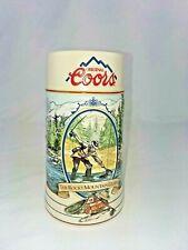 Original Coors The Rocky Mountain Legend Series 1992 Fishing Beer Mug