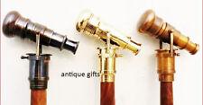 Walking Stick Cane  Solid Brass Telescope Handle Antique Vintage Style Halloween
