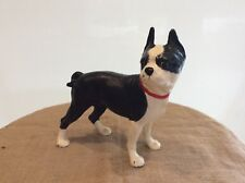 Vintage Cast Iron Boston Bull Terrier Doorstop 9� x 10�
