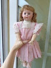 Antike Puppe Porzellankopfpuppe geschlossener Mund antique doll closed mouth