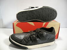 J. SHOES SNEAR LEATHER LOW MEN SHOES BLACK/SILVER 30238 SIZE 7.5 NEW