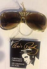 NEW ELVIS PRESLEY TCB GOLD Sunglasses Keychain Christmas Ornament Kurt Adler