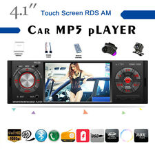 4''1 Din Car Radio Touch Screen AM MP5 Player Stereo RDS 2USB BT FM TF +SWC+CAM