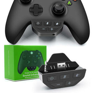 For XBOX One Game Controller Headset Adapter Headphone Audio Converter LED 3.5mm