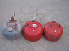 3 pcs Vintage Used  Gasoline Gas Can Water Can Small Cans good  decor only