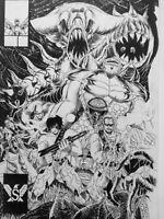 COMMISSION an Original Comic Book cover black/white comic size