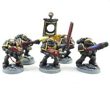 Warhammer 40k Army Space Marines Red Scorpions 5 Man Squad Painted