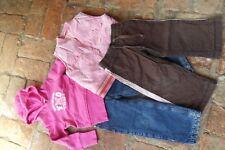 4teiliges Bekleidungspaket Mädchen Gr. 98/104 (2 Hosen, Hoodie, Weste)