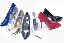 "ELLIE Women Sexy 5"" High Stiletto Heel Evening Ball Closed Toe Pump - Red Size 7"