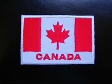 CANADA CANADIAN National FLAG Embroidered Sew on Glue on BADGE Maple Leaf Patch