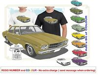 CLASSIC 71-74 HQ HOLDEN PREMIER SED ILLUSTRATED T-SHIRT MUSCLE RETRO SPORTS
