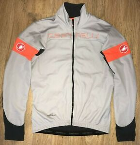 Castelli RARE mens Grey cycling long sleeve jersey Windstopper Jacket size M