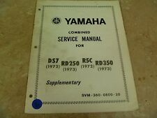 Yamaha RD350 DS7 R5 RD250 Supplementary Combined Service Manual 70s #VP-MAN6