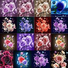 5D Diamond Painting DIY Flower Rose Embroidery Cross Craft Stitch Kit Art Decor
