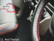 FOR IKCO ARISUN -BLACK STEERING WHEEL COVER RED STITCH