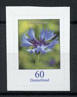 Germany 2019 MNH Cornflower Flowers Definitives 1v S/A Set Flora Nature Stamps