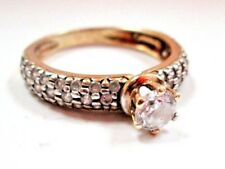 AH3 Real 10K Yellow White GOLD Simulated Diamond Engagement Ring size 9 Women