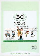 Timbre Gaston Lagaffe Planche de 5 timbres pour les 60 ans de Gaston, Gaston Lag