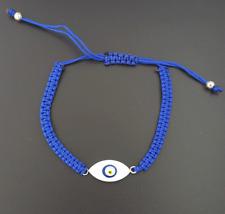 Nazar Knoten Armband Türkisches Magisches Auge Böser Blick Evil Eye Blau Silber