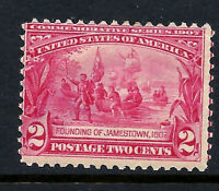#329 MINT-LH 1907 Carmine 2c JAMESTOWN Expo Issue...Hb