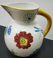 New ListingBico China Pitcher Dragonflies, Butterflies, Ladybugs, Frogs, Flowers