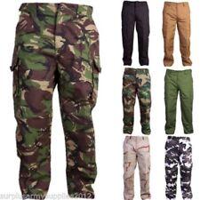 Pantalones de hombre cargo marrón 100% algodón