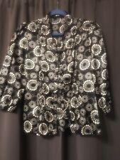Violet & Claire New York Black & White Button Up Blouse Size Medium
