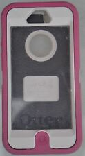 Authentic OtterBox Defender Series Apple iPhone 5 Pink w/ White Case Phone Cover
