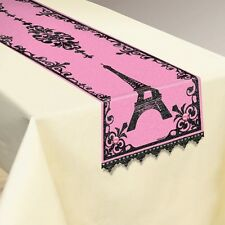BRIDAL SHOWER Day in Paris TABLE RUNNER ~ Wedding Party Supplies Decoration Pink