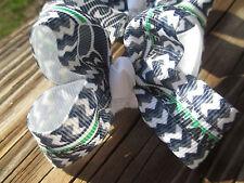 """Hair Bows Two Medium 2"""" Seattle Seahawks Football Grosgrain ribbon hair bow USA"""