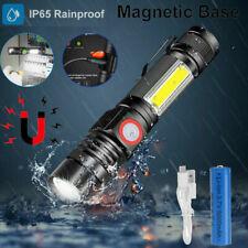 Super Hell Taschenlampe COB LED KFZ Arbeitsleuchte USB Aufladbar Akku Magnet