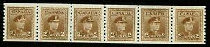 CANADA- 1948- K. GEORGE  STRIP OF 6 PERF 9½ -VF**