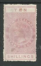 NEW ZEALAND  VICTORIAN POSTAL FISCAL 10/- MOUNTED MINT CAT £325,SEE SCANS