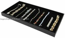 Lot of 2 Black 10 Slot Black Jewelry Bracelet Pen Pocket Knife DisplayTrays