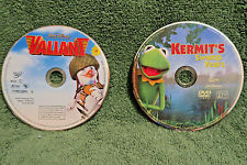 LOT of 2 DVDs: KERMIT's SWAMP YEARS Movie and VALIANT Jim Henson Muppets DISNEY