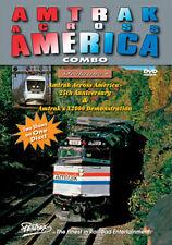 Amtrak Across America Combo DVD NEW PENTREX 25th Anniversary X2000 demonstration