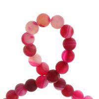 Pink Fuchsia 4mm Achat Perlen Matte Natürliche Streifen Edelsteine BEST G838
