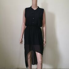 C304 - Another Sheer Sleeveless Dress with Asymetrical Skirt and Stretch Waist