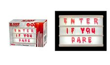 Halloween Cinematic Light Box 78 interchangeable BLOODY Dripping Letters/Numbers
