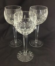 Three Waterford Lismore Hock Wine Glasses