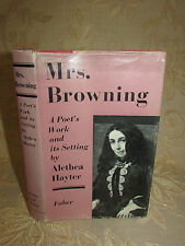 Vintage Book Of Mrs. Browning A Poet's Work And Its Setting - 1962