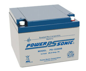 PS-12260 Power-Sonic 12 volt 26Ah Rechargeable 12V PS12260 lead acid Battery