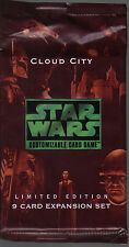 STAR WARS CCG CLOUD CITY BLACK BORDER SEALED BOOSTER PACK OF 9 CARDS