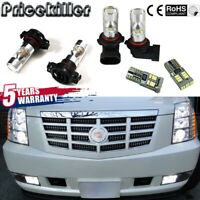 6X White LED Fog Driving DRL Light Bulbs Combo For 2007-14 Cadillac Escalade HOT