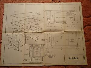 Systeme D (France) plans of a Bureau design number 327 April 1973