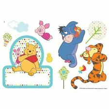 WINNIE THE POOH NAME PLATE AND WALL STICKERS KIDS BEDROOM WALL DECOR NEW