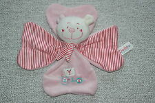 DODO D'AMOUR MGM DOUDOU OURS PLAT 2 + 3 ROSE RAYE FLEUR KOM9