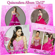 "Photoshop Quinceañera Templates PSD 12x12"" Golden,Fiusa,Blue"