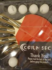 Opium Sport Table Tennis/Ping Pong Professional Racket Set of 4 Paddles, 8 Balls